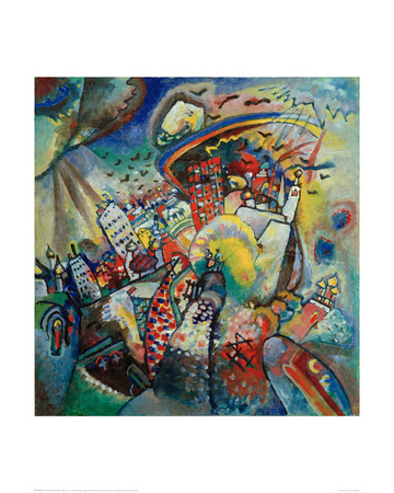 Moscow I. 1916 Giclee Print by Wassily Kandinsky