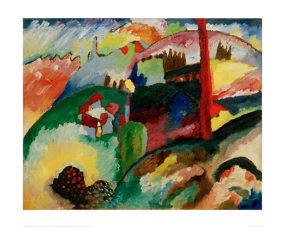 Landscape with Chimneys, 1910 Giclee Print by Wassily Kandinsky
