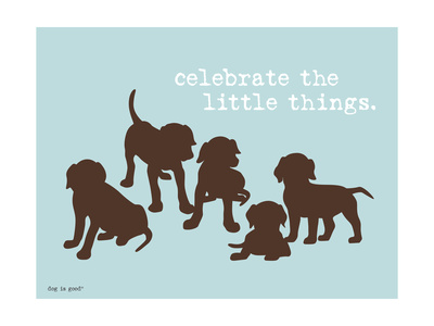 Celebrate Little Things Metal Print by  Dog is Good