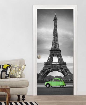 Eiffel tower door wallpaper mural fototapeta na for Eiffel tower wallpaper mural