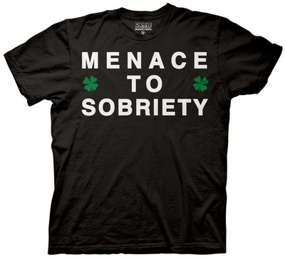 Menace to Sobriety T-shirts