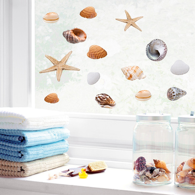 Seashells (Window Decal) Pencere Çıkartmaları