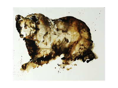 Brown Bear Giclee Print by Sydney Edmunds