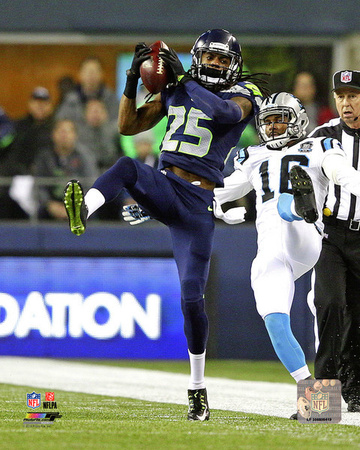 Richard Sherman Interception 2014 Playoff Action Photo