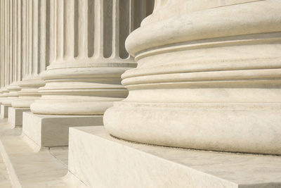 US Supreme Court Columns Photographic Print by Gary Blakeley