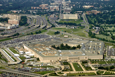 Aerial of the Pentagon, the Department of Defense Headquarters in Arlington, Virginia, near Washing Photographic Print by  1photo