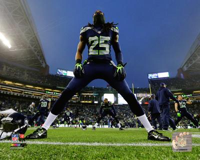 Richard Sherman 2014 Playoff Action Photo