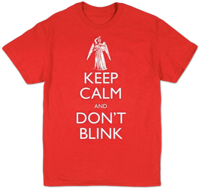 Doctor Who - Keep Calm Don't Blink Shirt
