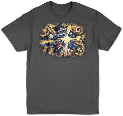 Doctor Who - Van Gogh Exploding Tardis T-shirts