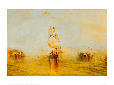 The Sun of Venice Setting Sail, 1843 Giclee Print by J.M.W. Turner