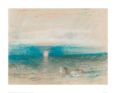 Sunset Over the Sea, with Fish Giclee Print by J.M.W. Turner