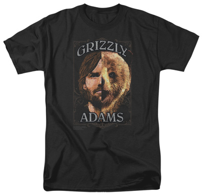 Grizzly Adams - Half Bear T-shirts