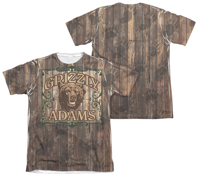 Grizzly Adams - Paw Prints (Front/Back Print) T-shirts