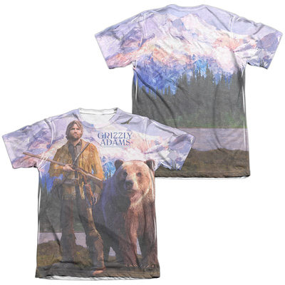 Grizzly Adams - Man And Bear (Front/Back Print) T-Shirt