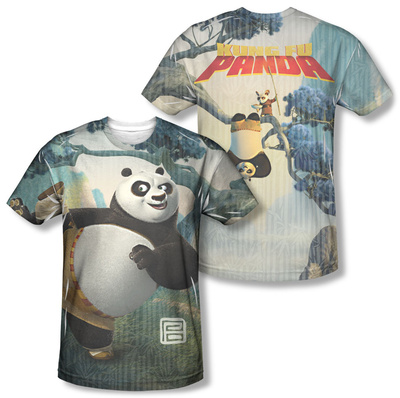 Kung Fu Panda - Training (Front/Back) T-Shirt