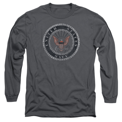 Longsleeve: Navy - Rough Emblem Long Sleeves