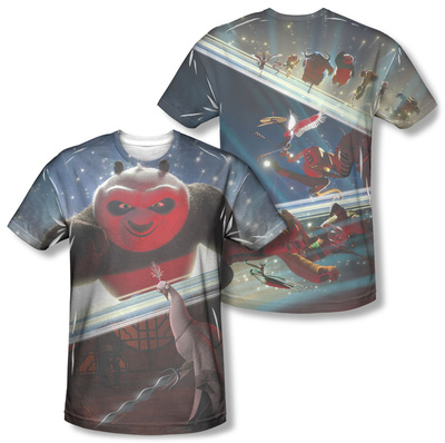 Kung Fu Panda - Epic Jumping (Front/Back) T-Shirt