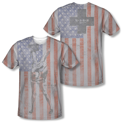 M.A.S.H - Flagged (Front/Back Print) T-Shirt