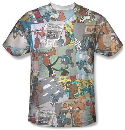 Rocky & Bullwinkle - Collage T-shirts