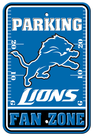 NFL Detroit Lions Plastic Parking Sign - Fan Zone Wall Sign