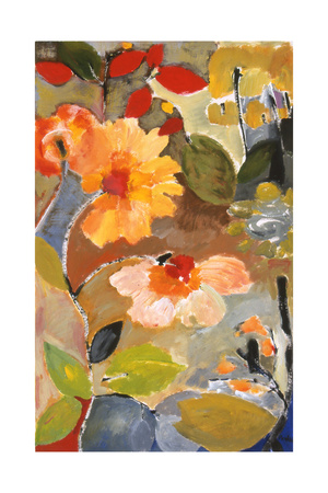 Waterlillies Giclee Print by Kim Parker