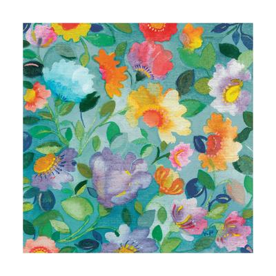 Turquoise Textile Giclée-Druck von Kim Parker