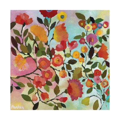 Rose Trellis Giclee Print by Kim Parker