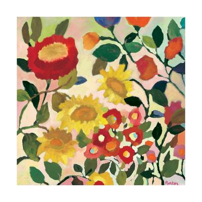 Three Sunflowers Giclée-Druck von Kim Parker