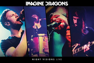 Imagine Dragons night visions live show poster covert art best modern rock bands