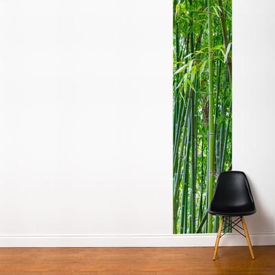 Green Bamboo Wall Mural