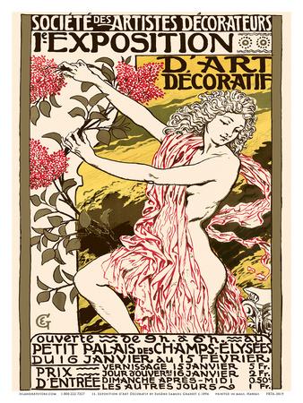 Exposition d'Art Décoratif -Art Nouvelle Poster at the Petit Palais des Champs-Elysees Prints by Eugène Samuel Grasset