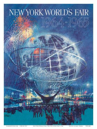 New York World's Fair 1964-1965 - Unisphere Earth Model Láminas por Bob Peak