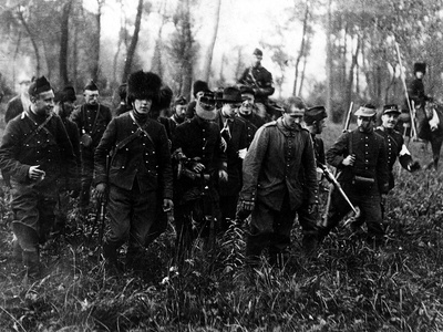 A German Soldier Captured by the French-English Troops Photographic Print