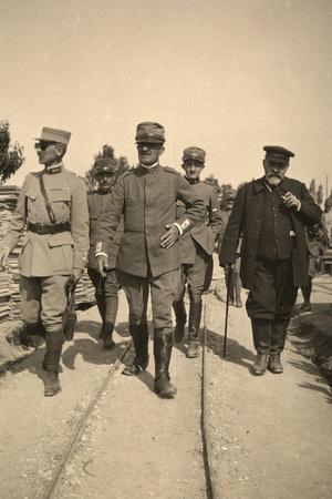 General Gondrecourt and General Luigi Pogliari Maglietta in the Company of Joseph Reinach Photographic Print by Ugo Ojetti