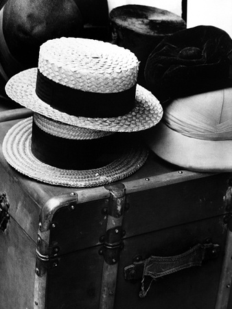 Hats on a Suitcase Photographic Print by Dusan Stanimirovitch
