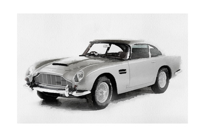1964 Aston Martin DB5 Watercolor Posters by  NaxArt