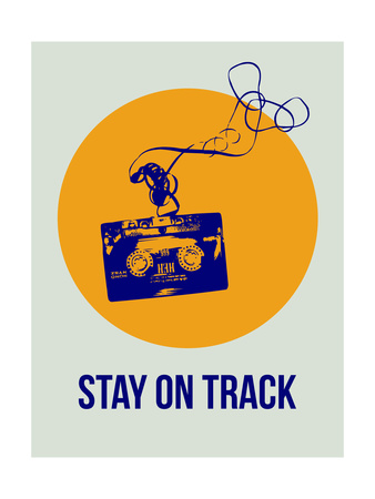 Stay on Track Circle 2 Prints by  NaxArt