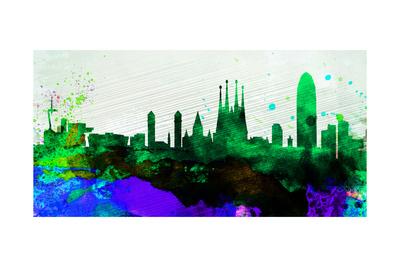 Barcelona City Skyline Prints by  NaxArt