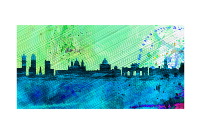 Madrid City Skyline Prints by  NaxArt