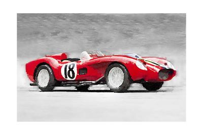 1957 Ferrari Testarossa Watercolor Print by  NaxArt