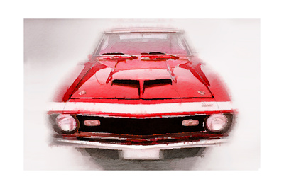 1968 Chevy Camaro Front End Watercolor Posters by  NaxArt