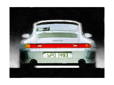 1993 Porsche 911 Rear Watercolor Posters by  NaxArt