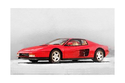 1983 Ferrari 512 Testarossa Poster by  NaxArt