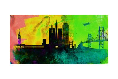 San Francisco City Skyline Prints by  NaxArt