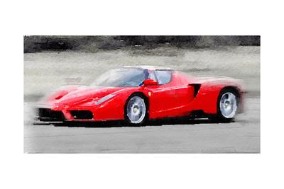 2002 Ferrari Enzo Watercolor Art by  NaxArt
