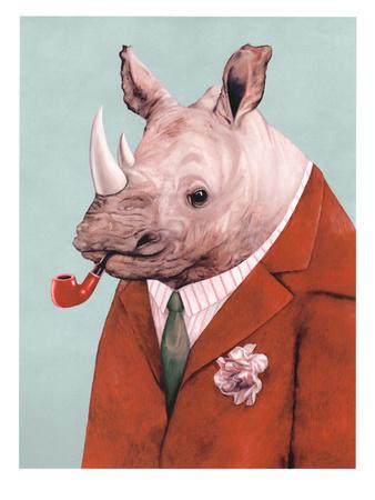 Rhino Plakat af  Animal Crew