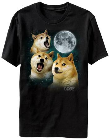 Doge - Three Doge Moon T-Shirt