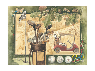 Golf Cart Posters by Anita Phillips