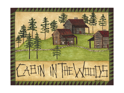 Cabin in the Woods Art by Cindy Shamp