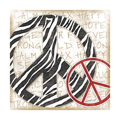 Peace Zebra Posters by Jennifer Pugh
